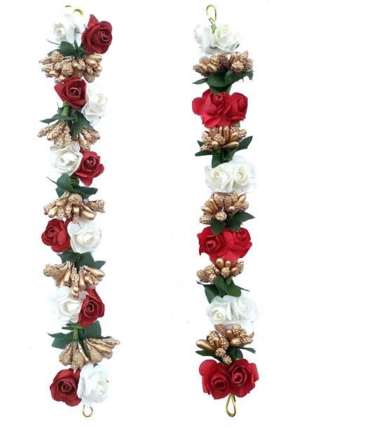 Maahal Bridal Flower Bun Hair Gajra Accessories For Wedding, Juda Decoration Gajra Pack of 1 Bun