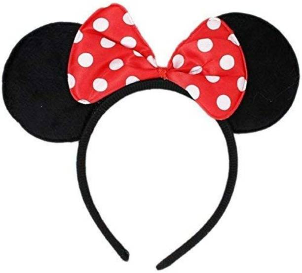Balloonistics Red Bow Dotted Minnie Head Band Accessory Makeup Headband