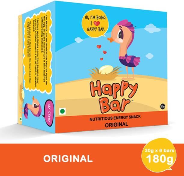 Happy bar Original Nutritious Protein Energy Bar with Jaggery & Peanut - Box of 6