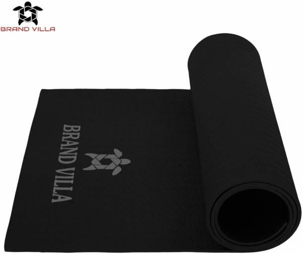 Brandvilla 8MM BLACK Eco Friendly Mat, Exercise & Gym Mat With Bag and strap Black 8 mm Exercise & Gym Mat