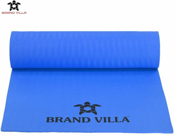 Brandvilla 8MM BLUE Eco Friendly Mat, Exercise & Gym Mat With Bag and strap, Blue 8 mm Exercise & Gym Mat