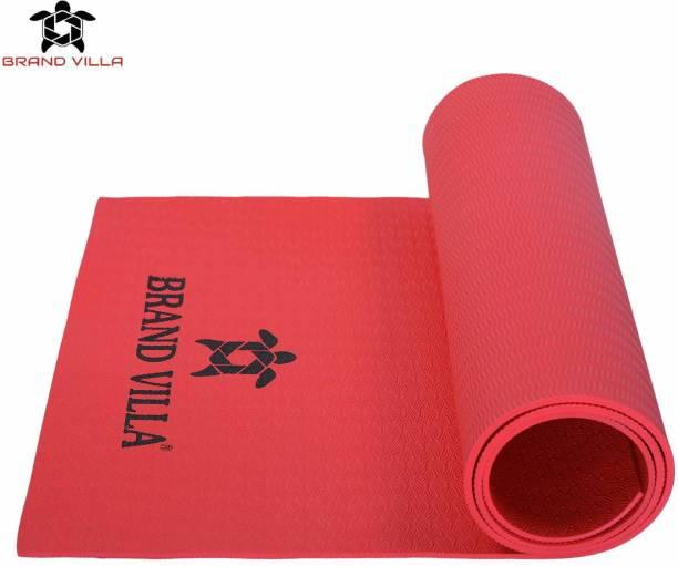 Brandvilla 8MM RED Eco Friendly Mat, Exercise & Gym Mat With Bag and strap Red 8 mm Exercise & Gym Mat