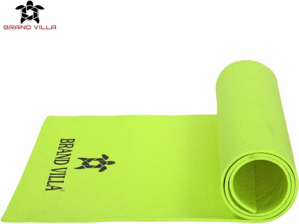 Brandvilla 8MMGREEN Eco Friendly Mat, Exercise & Gym Mat With Bag and strap Green 8 mm Exercise & Gym Mat