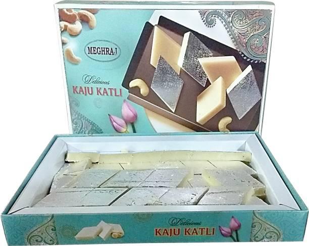 Meghraj Food Court Desi Ghee Kaju Burfi Festive Gift Box