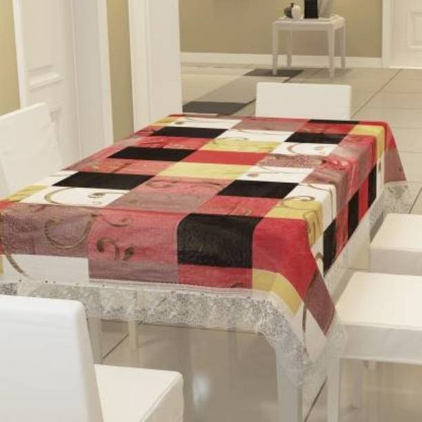 KARTIKEY Solid 6 Seater Table Cover