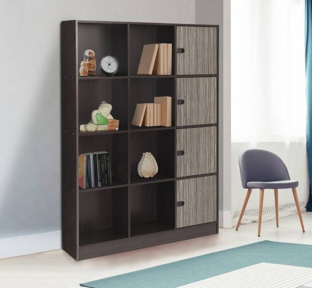 WOODNESS Engineered Wood Semi-Open Book Shelf (Finish Color - Wenge) Engineered Wood Semi-Open Book Shelf