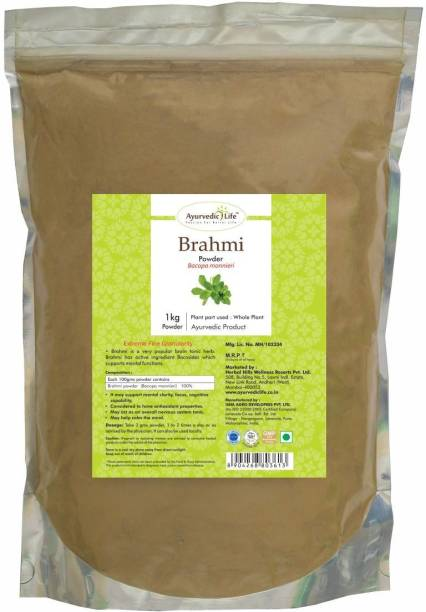 Ayurvedic Life Brahmi Powder - 1 kg Value Pack