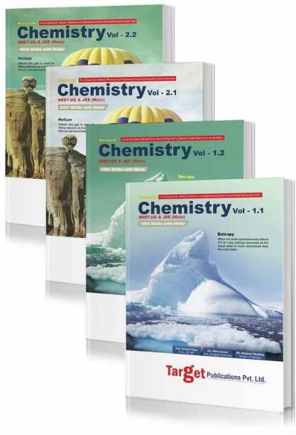 NEET UG / JEE Mains Absolute Chemistry Books Vol 1.1, 1.2, 2.1 And 2.2 Combo For 2021 NEET , AIPMT & AIIMS Medical And JEE Engineering Entrance Exam | Chapterwise MCQs With Solutions | Topicwise Tests For Practice | 4 Books