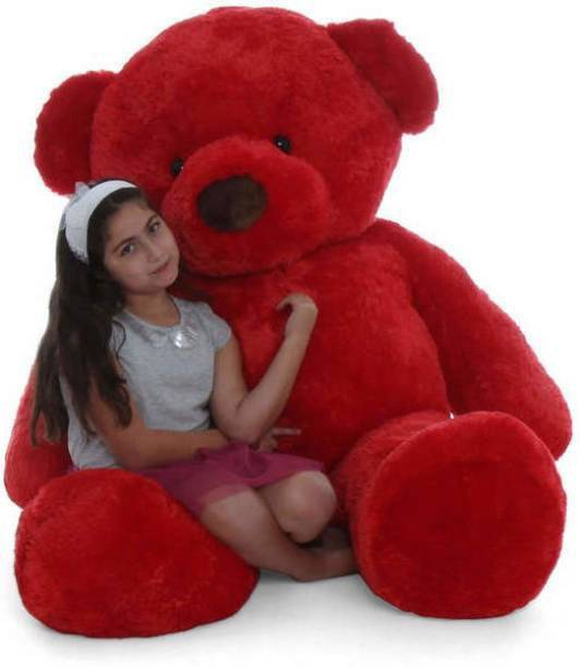 MakeUWish 3 Feet Red love color teddy for someone special / Birthday Gift -91 cm  - 90 cm