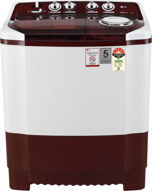 LG 8 kg 5 Star Rating Semi Automatic Top Load Red