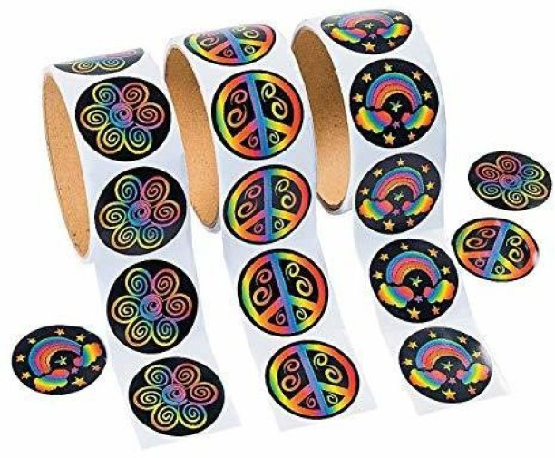 Roll Autism Awareness Stickers 1 Piece Fun Express Stationery Stickers Stickers