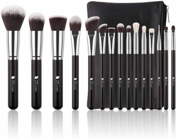 DUcare Professional Kabuki Makeup Brush With Leather Case Bag