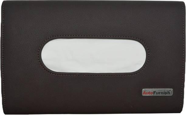 AutoFurnish Premium Car Sun Visor Holder Box Brown Vehicle Tissue Dispenser