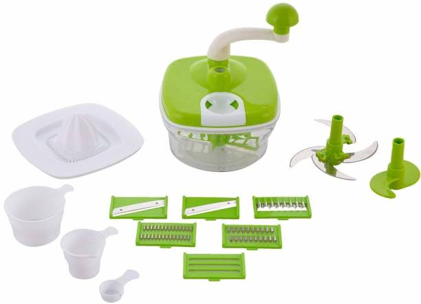 KITCHEN INDIA Food Processor/Dough/Atta Maker/Vegetable Cutter/Slicer/Grater Plastic Detachable Dough Maker