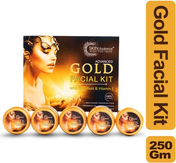 NutriGlow Skin Radiance Advanced Gold Facial Kit / Gold Dust & Vit E / Re-invent Yourself