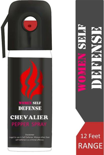CHEVALIER Ultra Strong Women Self Defence Pepper Spray for Safety/Protection, Compact Size with Clip | Max Protection - 45 shots | 55 ml Pepper Stream Spray