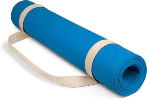 Adrenex by Flipkart Anti Skid Yoga Mat with Strap, Blue 6 mm Yoga Mat