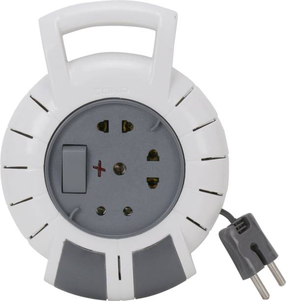 CONA 2226 AMRO 2 Pin Flex Box, 240V, 4 Meter Electrical Extension Box with Universal Socket 3  Socket Extension Boards