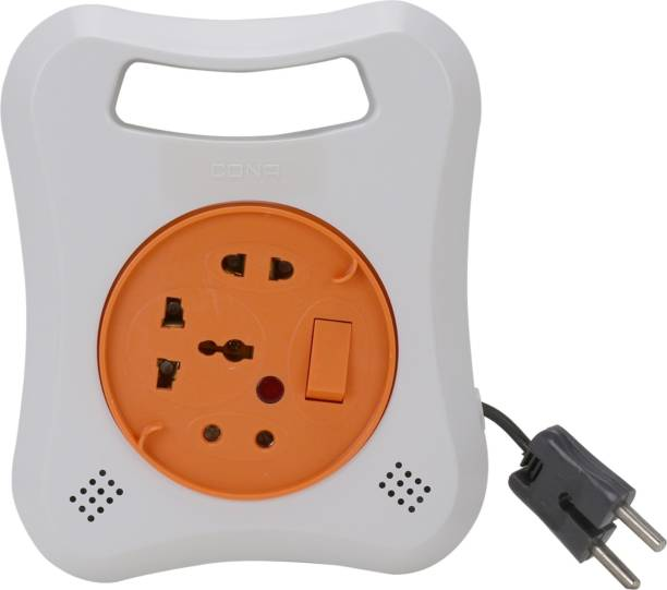 CONA Value Series Multi 2 Pin Flex Box 4171 With 7 Meter Wire And Indicator Extension Box 2 Pin Universal Extension Box Electrical Flex Box Surge Protector Extension Cord Suits all kind of Décor. Sleek Design. CE (European Conformity), ISO (9001:2008), Made in India 3  Socket Extension Boards