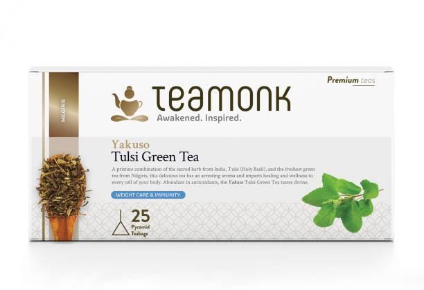 Teamonk Yakuso Nilgiris Tulsi Green Tea Box