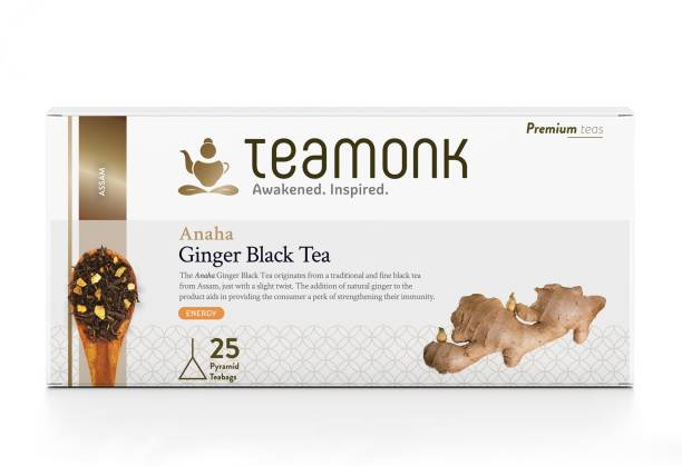 Teamonk Anaha Ginger Black Tea Bags Box