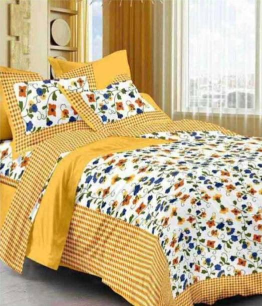 mohit creation 0 TC Cotton Double Printed Bedsheet