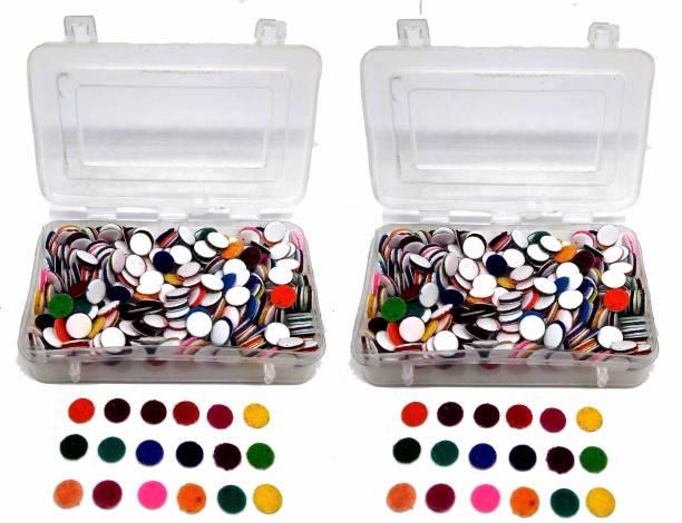YOUNGMONK Bindis (600 Bindi in 2 Box) Forehead Multicolor Bindis