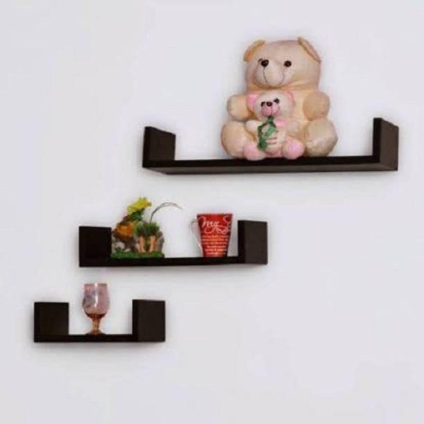 all crafts art U rack wall shelf Solid Wood Display Unit