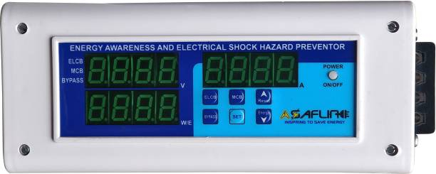 ASAFLINE ELCB Single Phase MCB RCCB RCB High-Low Voltage Protector Energy Meter Powermeter Energy Awareness And Electrical Shock Hazard Preventor ELCB SINGLE PHASE MCB