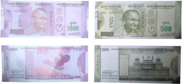 VK MART Fake Notes/Churan Artificial Coupon Playing Indian nakali note(2000-500-Notes-200pc) Money Gag Toy