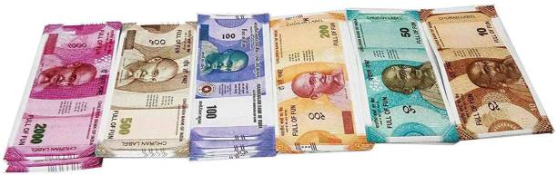 VK MART Fake indian note Its a perfect gift for kids(10-50-100-200-500-2000-notes-600pcs-new) Money Gag Toy