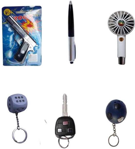 VK MART Harmless Joke Electric Shock Gun, Pen, Fan, Pasa, Key And Football Prank Gags Toy Prank Toy Gag Toy