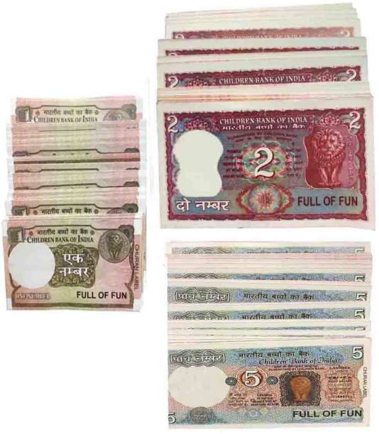 VK MART Learn Foundation Practical Skill of Money Handling for boys and kids(2-5-1-notes-300pc) Money Gag Toy