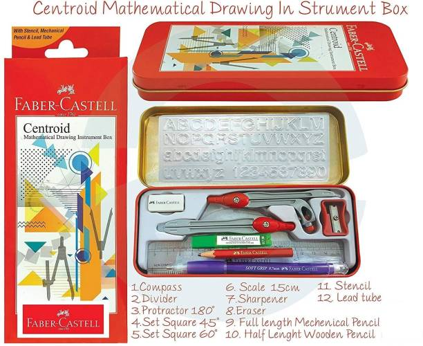 FABER-CASTELL Centroid - Mathematical Drawing Instrument Box Geometry Box
