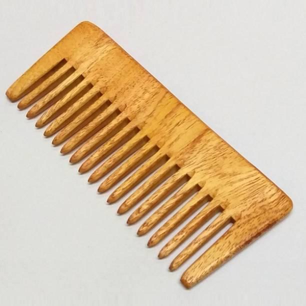 FeelFree Neem Wooden/Wood Comb For Women & Men Hair Growth