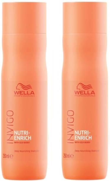 Wella Professionals Enrich Shampoo 250 ML Pack of 2