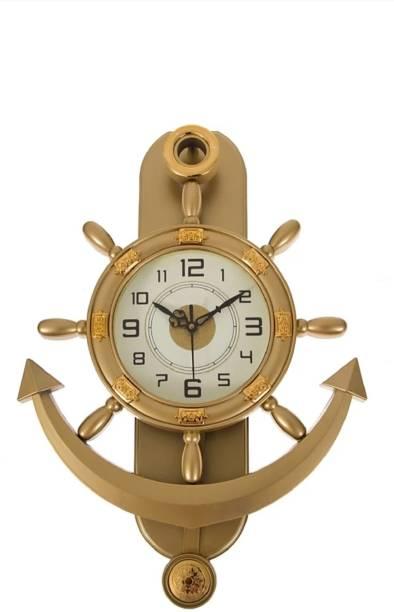 A&A Plaza Pendulum Wall Clock Analog 36 cm X 32 cm Wall Clock