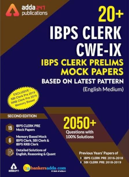 IBPS Clerk 2021 Prelims Mocks Papers English Printed Edition (IBPS Clerk Special)