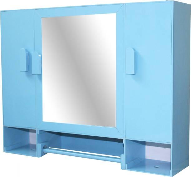 WINACO Monalisa Sky Blue Bathroom Cabinet Fully Recessed Medicine Cabinet