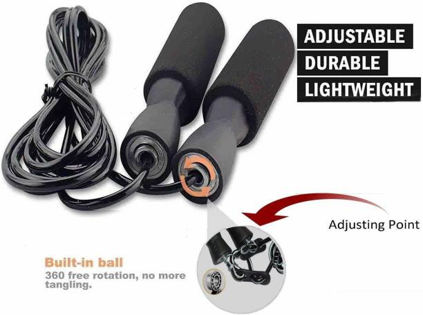 DIBACO SPORTS Adjustable bearing Skipping Rope for Home Exercise Ball Bearing Skipping Rope