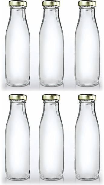 CRAZYINK Hygienic Air Tight Italian Glass Water Bottle, Milk Bottle, Juice Bottle 1000 ml Bottle
