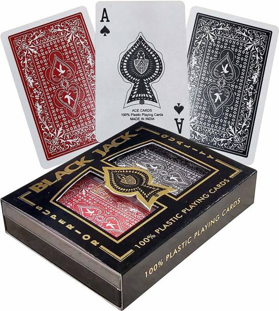 The Ace Card company Bridge Playing Cards with Hard Shell Case (2 Decks)