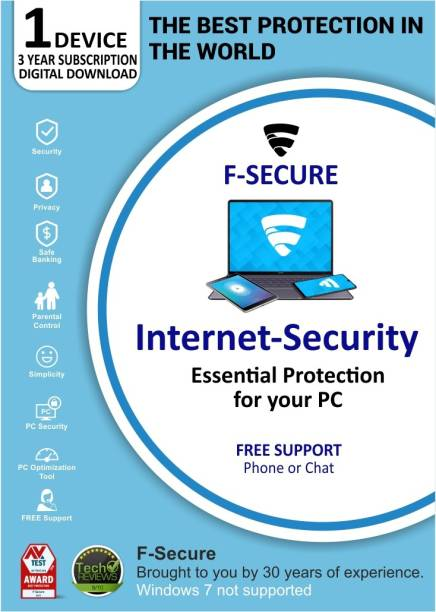F-Secure 1 PC 3 Years Internet Security (Email Delivery - No CD)