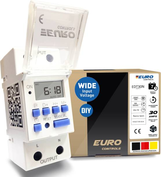 Euro Controls EDT30N-30A Programmable Electronic Timer Switch