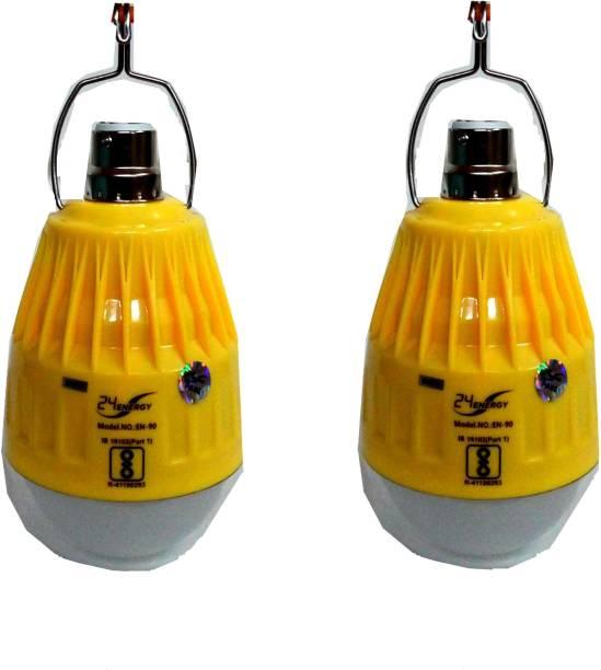 MYBUDDY SET OF 2 HI BRIGHT RECHARGEABLE EMERGENCY LED BULB LIGHT Bulb Emergency Light