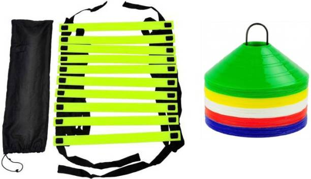 L'AVENIR Speed Ladder (4 Meters) with cover & 20pcs. Space Marker Football & Fitness Kit
