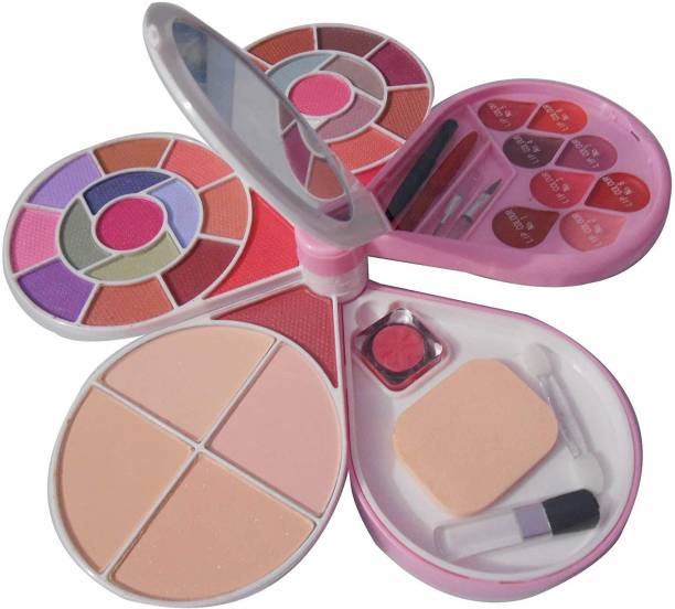 SWIPA Color Series 26-Eyeshadow, 2-Blusher, 4- Powder Cake, 8-Lipcolour+5Pcs Makeup Brush