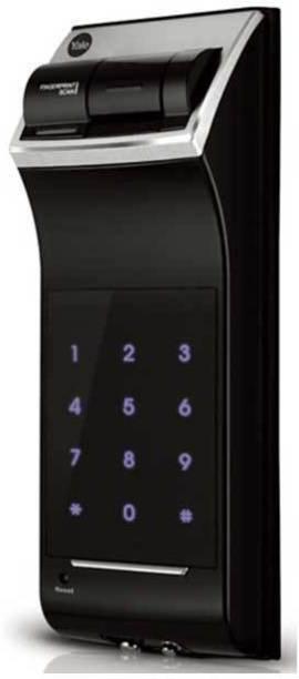 Yale YDR4110 (Rim Lock) - Fingerprint, PIN Code & Remote Control (Optional) Smart Door Lock