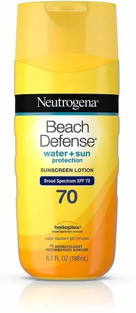 NEUTROGENA Beauty and the Beast Beach Defense Sunscreen Lotion Broad Spectrum SP - SPF 70