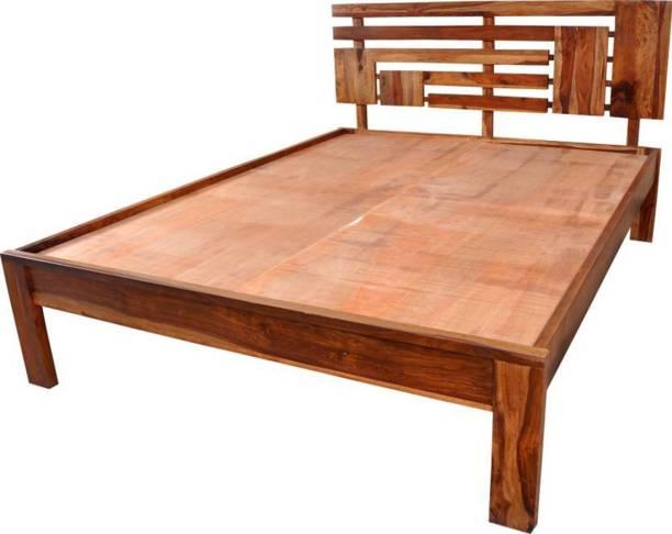 Home Edge Sheesham Wood Solid Wood King Box Bed